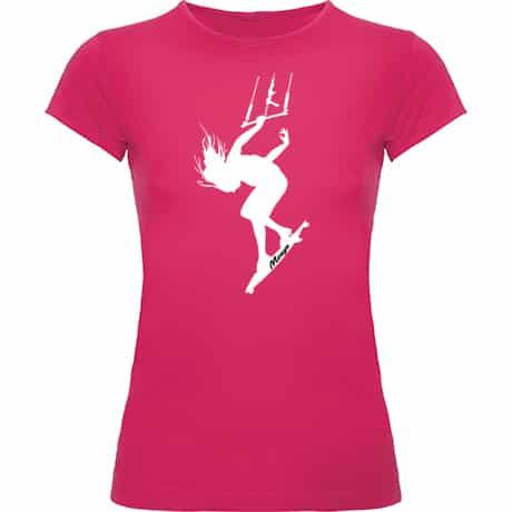 Camiseta Mujer Rosa fucsia Kite Girl 02
