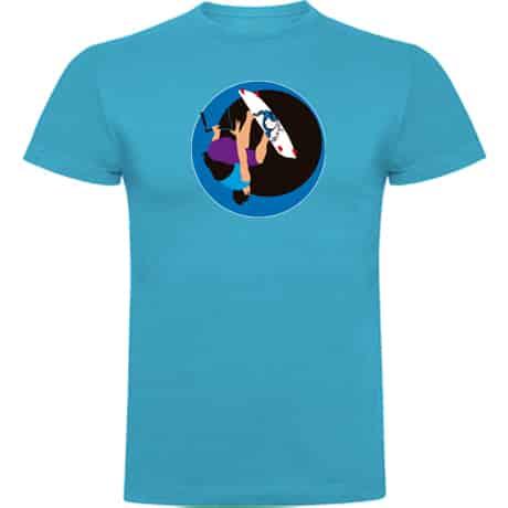 Camiseta niños turquesa Kite surfing handle pass