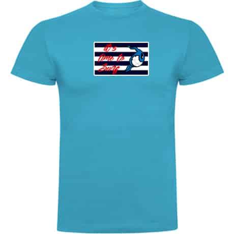 Camiseta niños turquesa it's Time to Surf