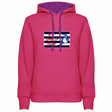 Sudadera Rosa fucsia mujer its time to Surf